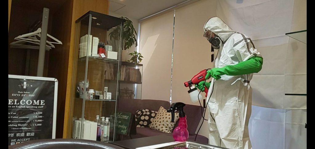 抗菌対策実施中|新宿御苑駅前美容院・美容室ネオアローム
